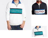 NWT Men's Nautica 1/4 Zip  Neck Active Fit Fleece Pullover Sweater Sweatshirt
