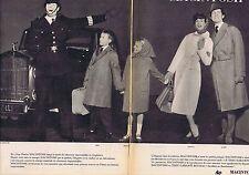 PUBLICITE ADVERTISING 015 1958 MACINTOSH vêtements enfant femme homme (2 pages)