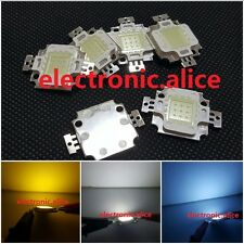 10W LED SMD Chip 900LM Cool White Beads Warm White blue red  RGB 9-12V