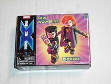 Diamond Art Asylum X-Men NEW WOLVERINE & PHOENIX Minimates 2 Pack