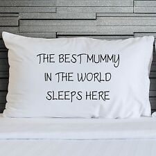 Pillowcases Worlds Best Mummy Covers Bedroom Bedding Mothers Day Gifts WSD788