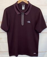 Men's THE NORTH FACE VaporWick Collared Polo Short Sleeve T Shirt Brown Medium M