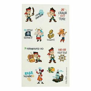 DISNEY JAKE THE PIRATE TATTOOS FAVORS FAVOURS PARTY SUPPLIES 16 TATTOOS