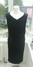Holly Willoughby Black Rouched Stretchy Party Dress 10