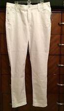 "16 NYDJ ""Not Your Daughters Jeans"" Alisha Fitted Ankle Jean - Optic White NEW"