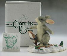 Binkey Snow Shoeing Mouse Village Squashville Winter Scene Figurine Dean Griff