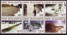 Nouvelle-Zélande 2008 Weather Extremes Gift bloc de 6 Non montés excellent état