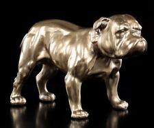 Bulldogge Figur - bronziert - Hunde Statue Deko