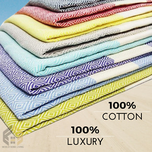 TURKISH HAMMAM LUXURY LARGE PESHTEMAL 100% COTTON BATH TOWEL BEACH YOGA MAT