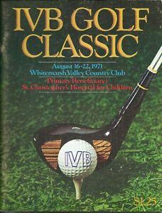 1971 Philadelphia IVB Golf Classic Program PGA Tour Whitemarsh Arnold Palmer