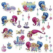 SHIMMER AND SHINE Wall Glitter Decals Room Decor Stickers Nahal Tala Genie NEW