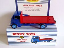 ATLAS DINKY TOYS GUY FLAT TRUCK BLUE/RED 512 WITH CERT