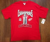 Detroit Red Wings Vintage 1998 Stanley Cup Champions Shirt XL New NWT Roster