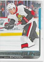 2018-19 Upper Deck #484 Drake Batherson YOUNG GUNS Rookie > Ottawa Senators