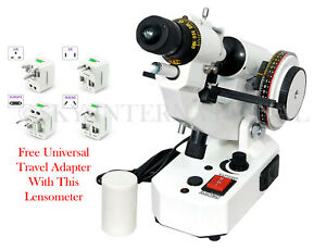 Optical Lensmeter Manual Lensometer External Reading Prism Unit With Adapter
