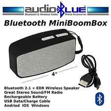 AudioBLUE- Bluetooth Mini BoomBox Speaker-MP3-USB-microSD Card Player-Phone-Pads
