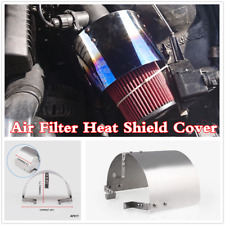 """Stainless Steel 2.5 '' - 5 """" Car Cone Sport Cold Air Filter Heat Shield Cover"""