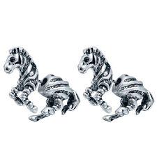 Fashion Fake Gauge Earrings Zebra Horse Animal Stud Plug Eearrings for Women