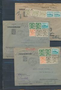 XC59439 Belgium 1947 covers with nice cancels used