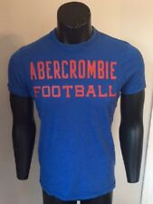 Mens Abercrombie & Fitch Football Royal Blue Crew Neck Cotton T-shirt - Small