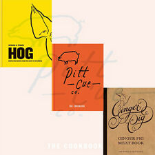 Ginger Pig Meat Book 3 Books Collection Set Pitt Cue Co The Cookbook ,Hog ,New