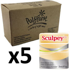 Sculpey Polymer Clay - JEWELLERY GOLD - Box of 5 x 57g - Just $3.30 per Block