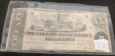 1862 Confederate States of America Note $20.00 Richmond December 2nd, 1862