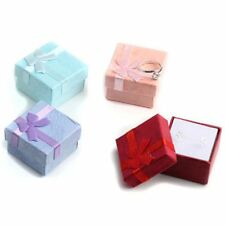4pcs 4 x 4 cm High Quality Jewelry Organizer Box Rings Storage Box Small Gift T5