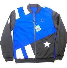 Men Puma full zip Football 2in 1 reversible Varsity bomber casual jacket 570414