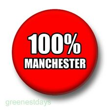 100% Manchester 1 Inch / 25mm Pin Button Badge Football City United Club Soccer