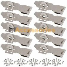 "10x 3"" inch Zinc Plated Safety Hasp and Staple for Gate Door Cabinet Lock"