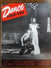 1947 DANCE STAGE SCREEN MAGAZINE JEAN BABILEE NATHALIE PHILIPPART COVER 00082