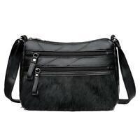 Women Leather Shoulder Crossbody Bag Fashion Multi Pocket Messenger Handbag R1BO