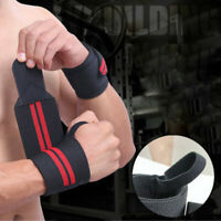 Weight Lifting Bodybuilding Wrist Support Bar Straps Knee Wrap Wraps Gym Bandage