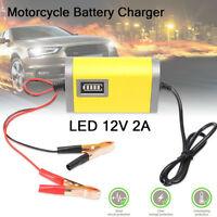 ABS 12V 2A Car Motorcycle Smart Automatic Battery Charger Maintainer Trickle