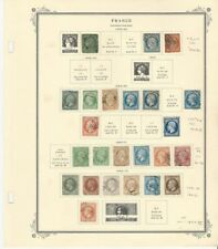 France Collection 1849 to 1870 on Scott Specialty Page, SCV $1837
