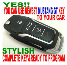 New Gt Style Flip Key Remote For   Ford Mustang Chip Key Keyless Entry