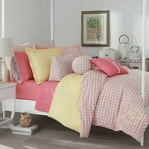 2-Pc Southern Tide Patio Plaid Twin Comforter Set Girl's Room Yellow Pastel
