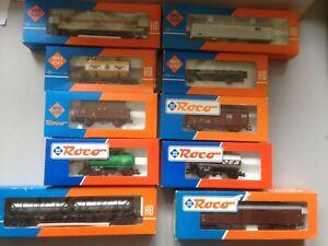 Job Lot of 10 Roco HO Wagons: 4364 4326 4319 46231 46070 46071 Like Lima Marklin