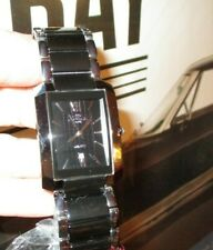 New ONISS Paris Watch Black Ceramic & Stainless, Black Textured Dial