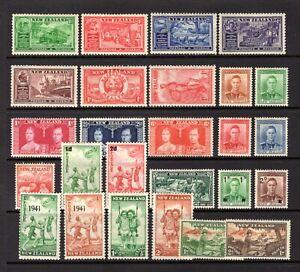 NEW ZEALAND 1936-1946 LIGHTLY MOUNTED + MOUNTED WITH HINGE REMAIN RANGE CAT £35
