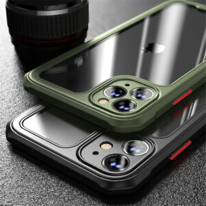 For iPhone 12 11 Pro XS MAX XR 8 7 Clear Case Shockproof Heavy Duty Hybrid Cover