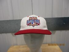VINTAGE 1996 PHILADELPHIA PHILLIES ALL-STAR GAME WHITE/RED SEWN SNAPBACK CAP/HAT