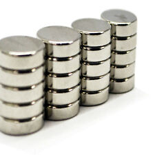 20pcs 8mm x 3mm DIY Fridge Pin Whiteboard Neodymium Circular Disc Magnets