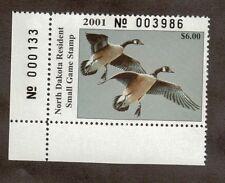 ND20 - North Dakota State Duck Stamp. Bottom Left PNS. MNH. OG.