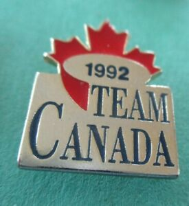 Team Canada 1992 NEW Hockey )Silver and Red) Lapel  Pin