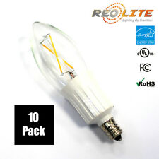 Candelabra LED Light Bulb B10 2W - 25W Replacement E12 Base Chandelier 10 Pack