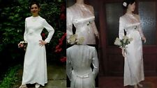 Vintage Original 50s 30s Ivory Satin Brocade Dream Wedding Dress! Size 8/10 ...