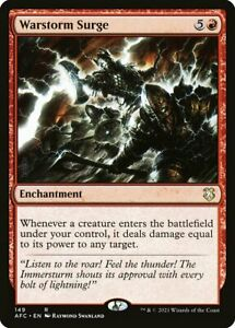 *MtG: 4x WARSTORM SURGE - Commander: Adventures Forgotten Realms Rare -magicman*