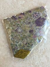 Vintage NOS Fan Shape Gold Purple Napkins Silken Rice Paper Made in Japan (20)